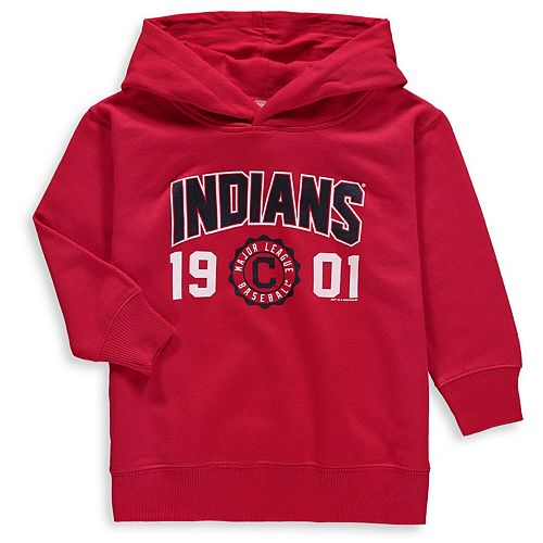 Toddler Soft as a Grape Red Cleveland Indians Fleece Pullover Hoodie