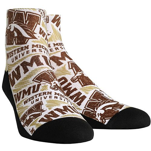 Women's Western Michigan Broncos Logo Sketch Quarter Socks