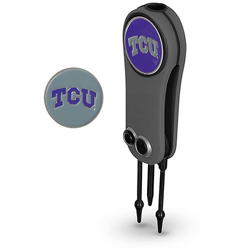 TCU Horned Frogs Switchblade Repair Tool & Two Ball Markers