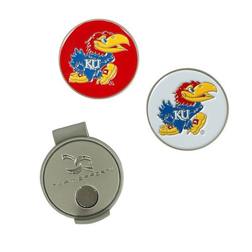 Kansas Jayhawks Hat Clip & Ball Markers Set