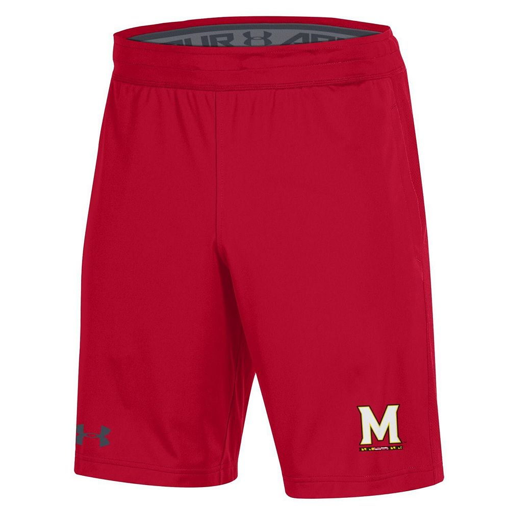 Men's Under Armour Red Maryland Terrapins MK-1 Shorts