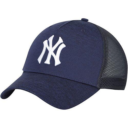 Men's Under Armour Navy New York Yankees Armour Twist Trucker Performance Adjustable Hat