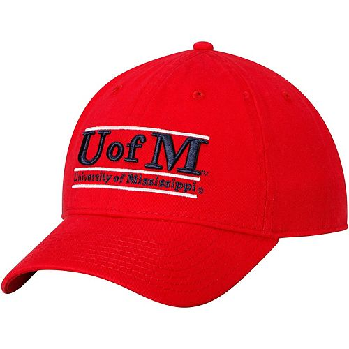Men's The Game Red Ole Miss Rebels U of M Classic Bar Unstructured Adjustable Hat