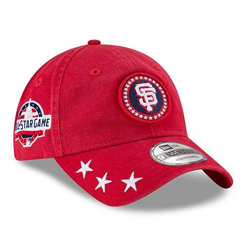 Men's New Era Red San Francisco Giants 2018 MLB All-Star Workout 9TWENTY Adjustable Hat