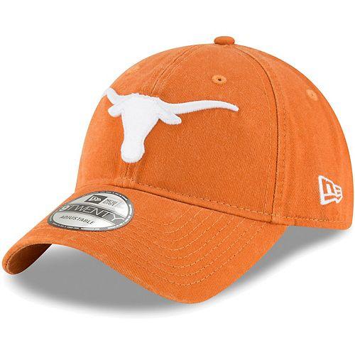 Men's New Era Texas Orange Texas Longhorns Core Classic Twill 9TWENTY Adjustable Hat