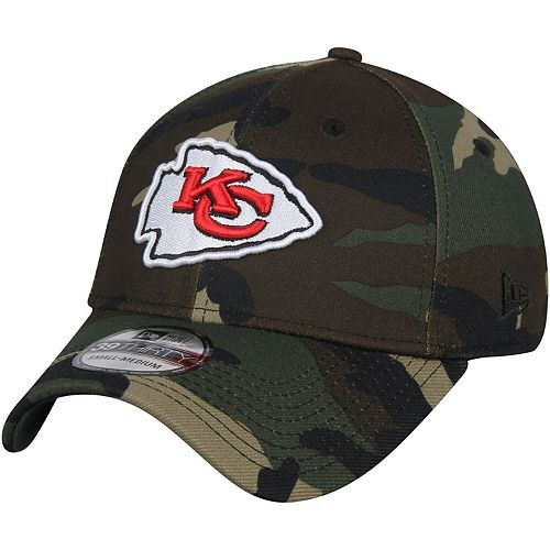 Men's New Era Camo Kansas City Chiefs Woodland 39THIRTY Flex Hat