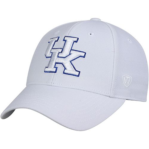 Men's Top of the World White Kentucky Wildcats Dynasty Fitted Hat
