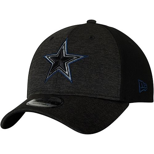 Men's New Era Heathered Black/Black Dallas Cowboys Shaded Front 9FORTY Adjustable Hat
