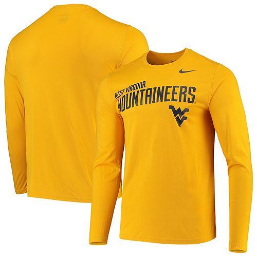 Men's Nike Gold West Virginia Mountaineers Sideline Legend Long Sleeve Performance T-Shirt