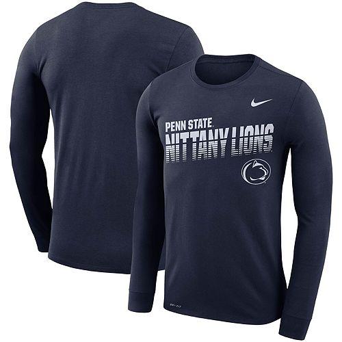 Men's Nike Navy Penn State Nittany Lions Sideline Legend Long Sleeve Performance T-Shirt