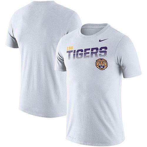 Men's Nike White LSU Tigers Sideline Legend Performance T-Shirt