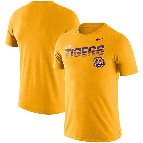 Men's Nike Gold LSU Tigers Sideline Legend Performance T-Shirt