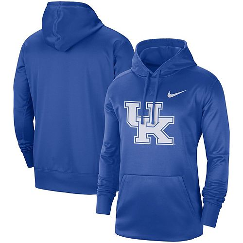 Men's Nike Royal Kentucky Wildcats Circuit Logo Performance Pullover Hoodie