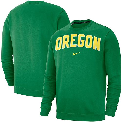 Men's Nike Green Oregon Ducks Club Fleece Sweatshirt