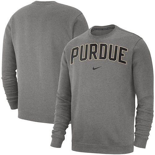 Men's Nike Heathered Gray Purdue Boilermakers Club Fleece Sweatshirt