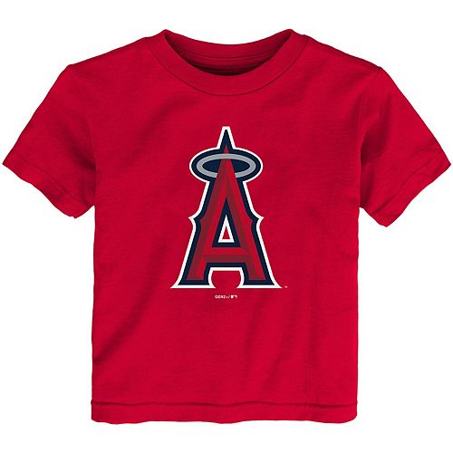 Toddler Red Los Angeles Angels Team Primary Logo T-Shirt
