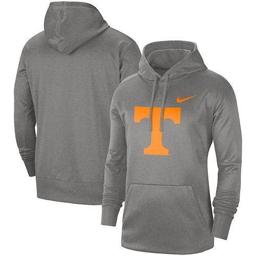 Men's Nike Heathered Gray Tennessee Volunteers Circuit Logo Performance Pullover Hoodie