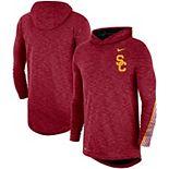 Men's Nike Cardinal USC Trojans 2019 Sideline Long Sleeve Hooded Performance Top
