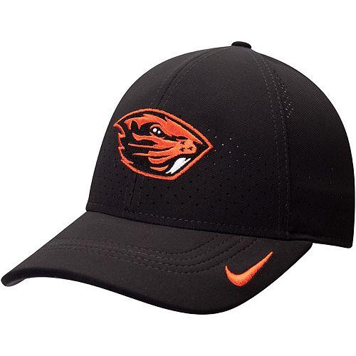 Men's Nike Black Oregon State Beavers Sideline Coaches Legacy 91 Performance Adjustable Hat