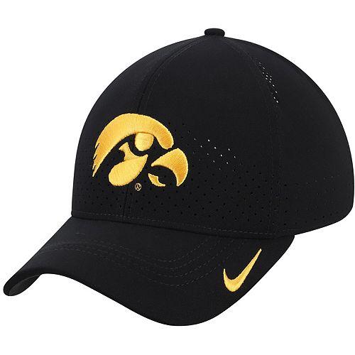 Men's Nike Black Iowa Hawkeyes Classic 99 Sideline Performance Flex Hat