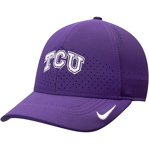Men's Nike Purple TCU Horned Frogs Sideline Coaches Legacy 91 Performance Adjustable Hat