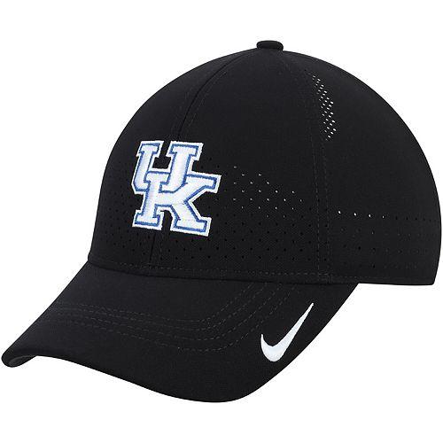 Men's Nike Black Kentucky Wildcats Sideline Coaches Legacy 91 Performance Adjustable Hat