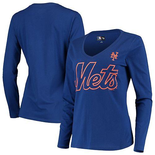 Women's G-III 4Her by Carl Banks Royal New York Mets Post Season Long Sleeve T-Shirt