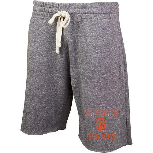 Men's Concepts Sport Heathered Gray San Francisco Giants Mainstream Tri-Blend Shorts