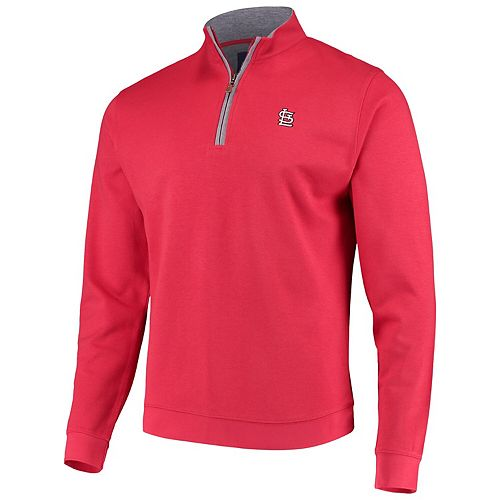 Men's johnnie-O Red St. Louis Cardinals Sully Tri-Blend Quarter-Zip Pullover Jacket
