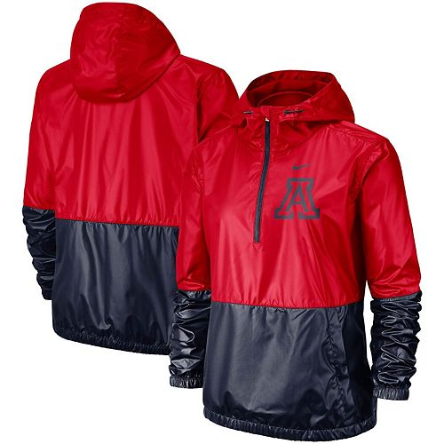 Women's Nike Red/Navy Arizona Wildcats Anorak Half-Zip Jacket
