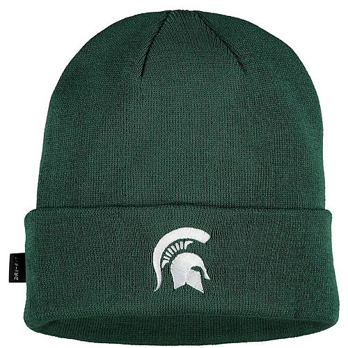 Men's Nike Green Michigan State Spartans Sideline Performance Cuffed Knit Hat