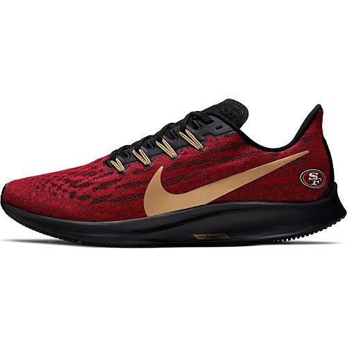 Men's Nike Scarlet/Gold San Francisco 49ers Air Zoom Pegasus 36 Running Shoes