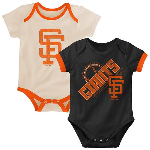 Infant Black/Tan San Francisco Giants Cooperstown Collection Groovy Game Two-Pack Bodysuit Set