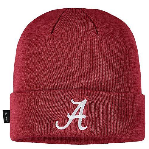 Men's Nike Crimson Alabama Crimson Tide Sideline Performance Cuffed Knit Hat