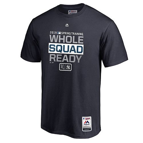 Men's Majestic Navy New York Yankees 2019 Spring Training Authentic Collection T-Shirt