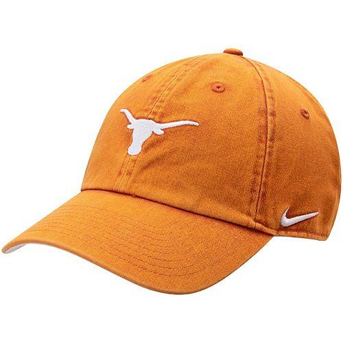 Men's Nike Texas Orange Texas Longhorns Washed Heritage 86 Adjustable Hat