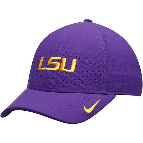 Men's Nike Purple LSU Tigers Sideline Coaches Legacy 91 Performance Adjustable Hat