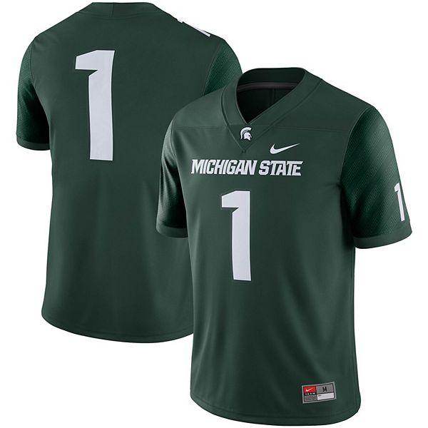 Men's Nike #1 Green Michigan State Spartans Game Jersey