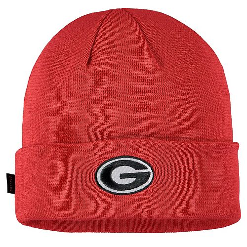 Men's Nike Red Georgia Bulldogs Sideline Performance Cuffed Knit Hat