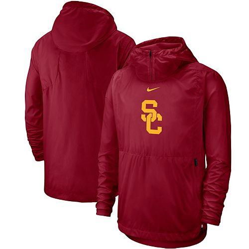 Men's Nike Cardinal USC Trojans 2019 Player Repel Quarter-Zip Hoodie Jacket