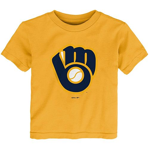 Toddler Gold Milwaukee Brewers MLB Primary Logo T-Shirt