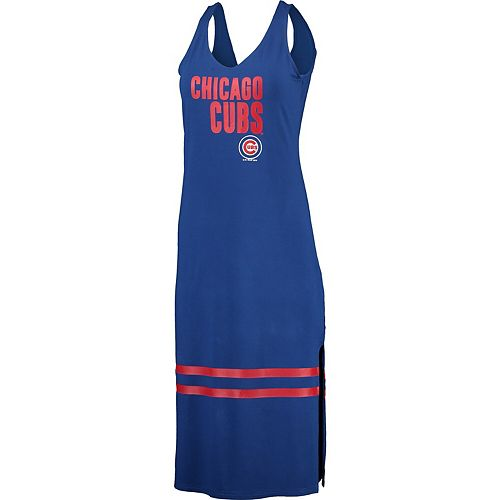 Women's G-III 4Her by Carl Banks Royal Chicago Cubs Opening Day Maxi Dress