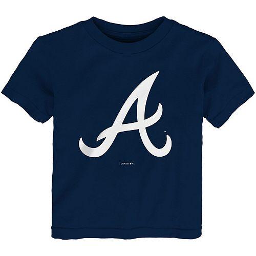 Toddler Navy Atlanta Braves Team Primary Logo T-Shirt