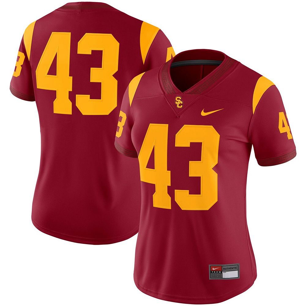Women's Nike #43 Cardinal USC Trojans Game Jersey