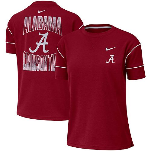 Women's Nike Crimson Alabama Crimson Tide Double Knit Fashion Performance T-Shirt