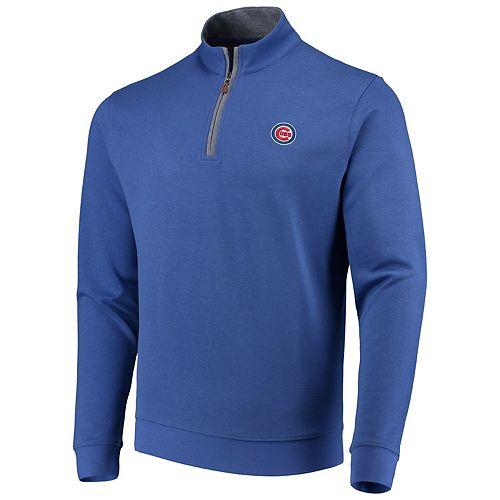 Men's johnnie-O Royal Chicago Cubs Sully Tri-Blend Quarter-Zip Pullover Jacket