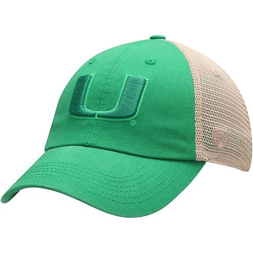 Men's Top of the World Green Miami Hurricanes St. Patrick's Day Snog Trucker Hat