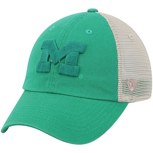 Men's Top of the World Green Michigan Wolverines St. Patrick's Day Snog Trucker Hat