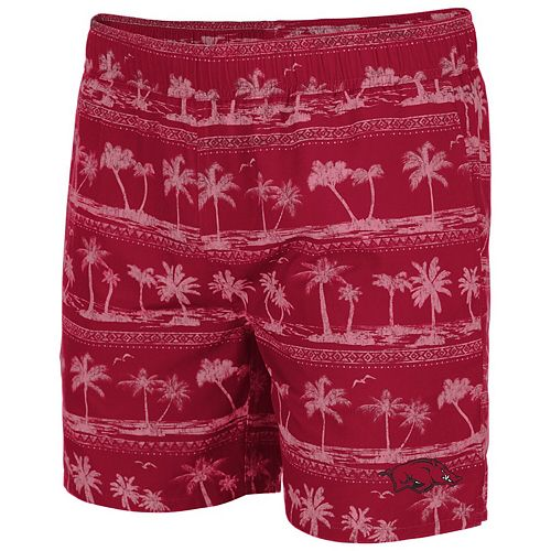 Men's Colosseum Cardinal Arkansas Razorbacks Maui Swim Shorts