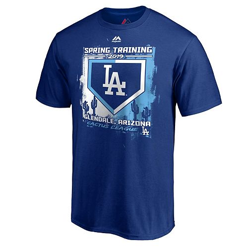 Men's Majestic Royal Los Angeles Dodgers 2019 Spring Training Base On Ball T-Shirt